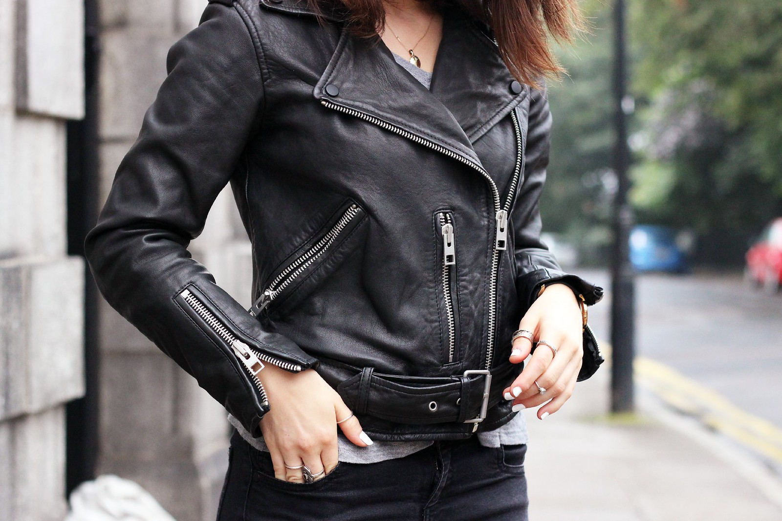All Saints leather biker jacket 3
