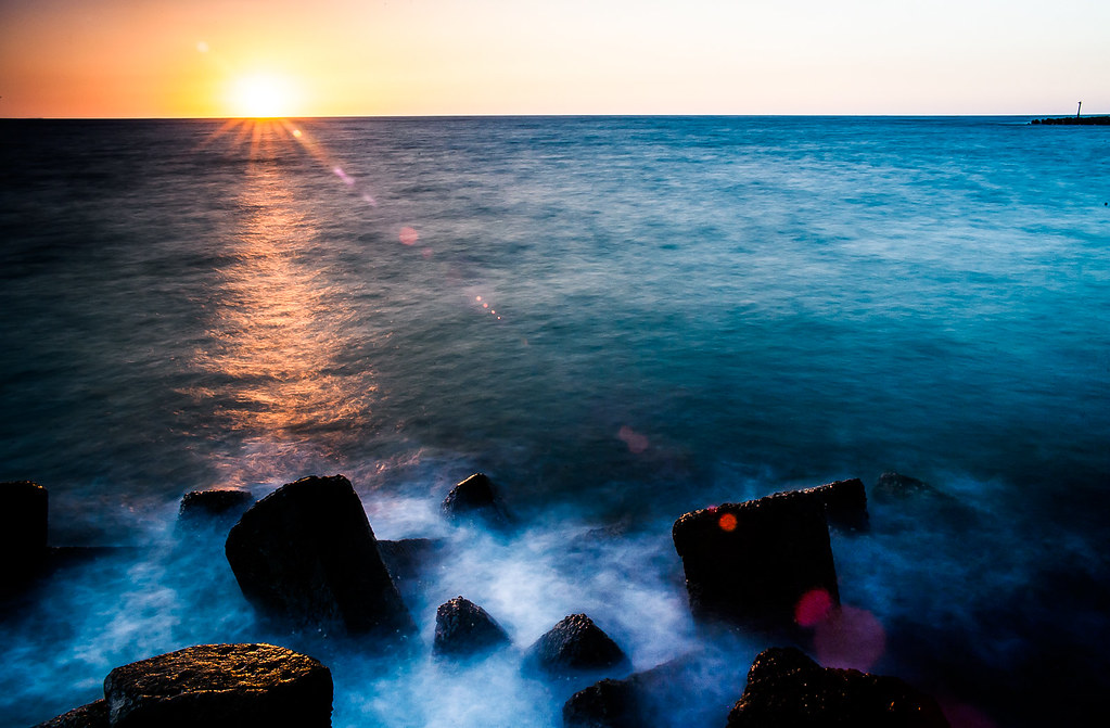 【一張流】外埔漁港日落