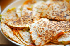 quesadillas with zucchini butter