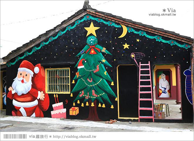 【新港童話村/青蛙彩繪村/北崙彩繪村】有聖誕老公公的繽紛彩繪村!超多主題好歡樂~44