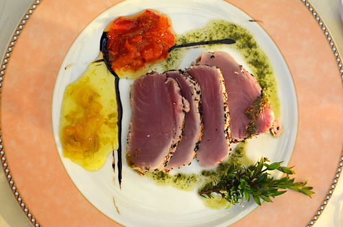 Seared tuna in Italy