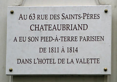 Photo of François-René de Chateaubriand marble plaque