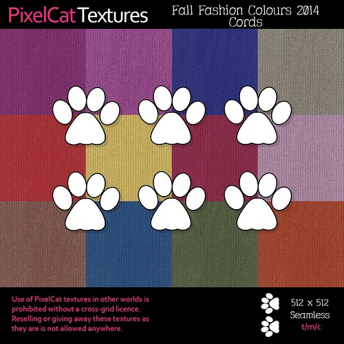 PixelCat Textures - Fall Fashion Colours 2014 - Cords