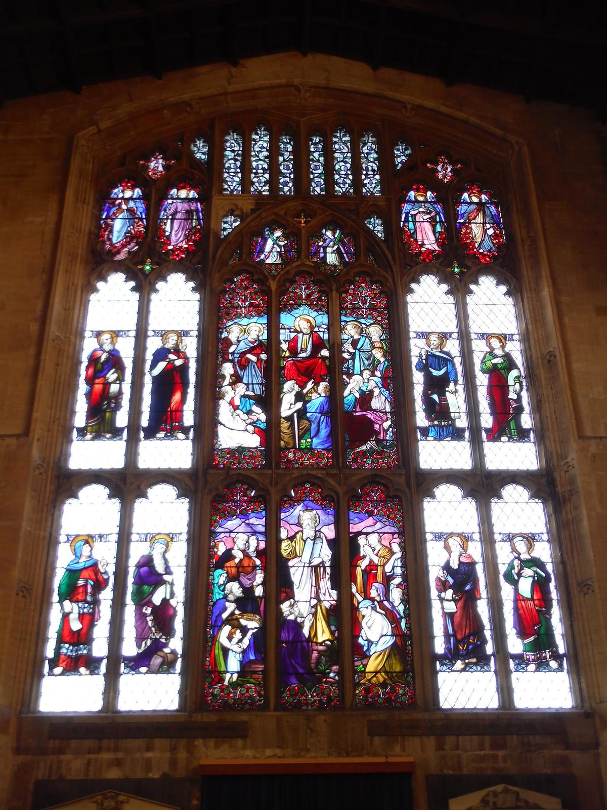 Stained Glass Windows, All Saints, Westbury SWC Walk 286 Westbury to Warminster (via Imber Range)