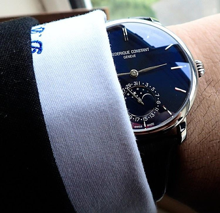 Tuesday 28th March 2017, Frederique Constant Manufacture Slimline Moon Phase Blue