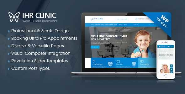 IHR Clinic WordPress Theme free download