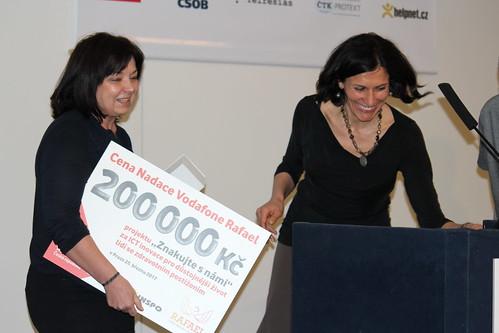 Předávání Ceny Nadace Vodafone Rafael – Jana Fenclová a Adriana Dergam