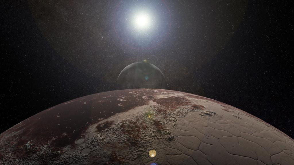 Pluto, Charon, and Sun