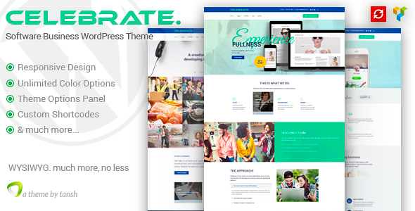 Celebrate WordPress Theme free download