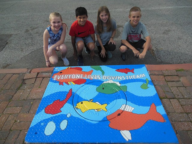 Forsyth School Storm Drain Art Education