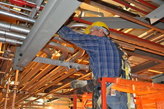 construction worker, industry, ceiling, beam, construction,