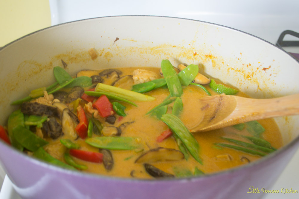 Lemongrass Chicken Coconut Curry via LittleFerraroKitchen.com