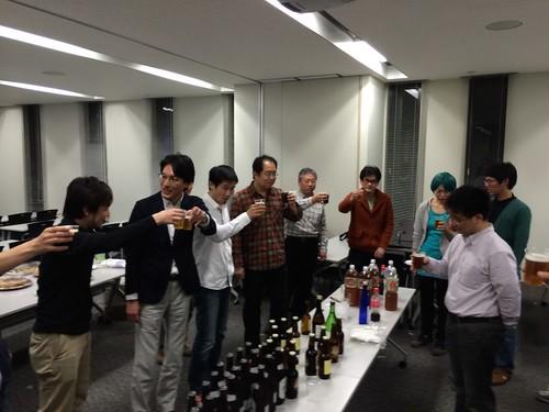 懇親会:地元ビールがおいしかった (^^)