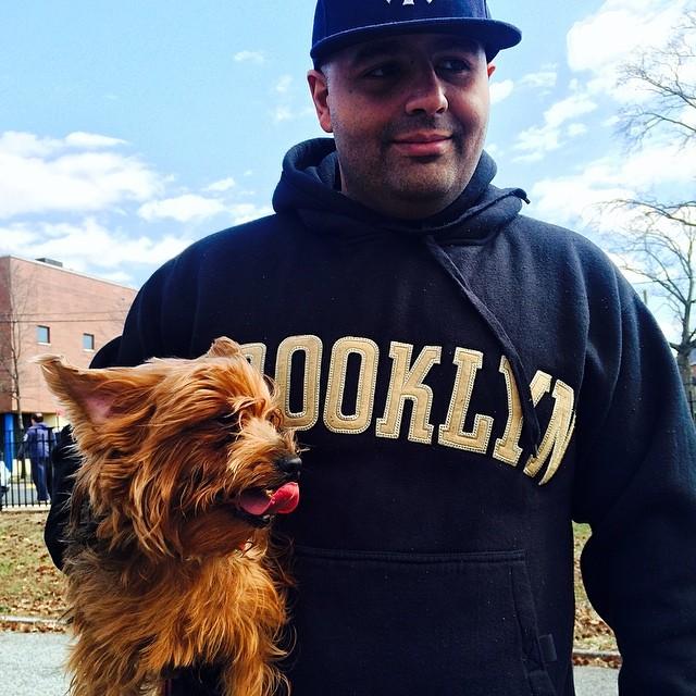 ☺️ My lovie and my doggy! #yorkie #brooklyn #lola