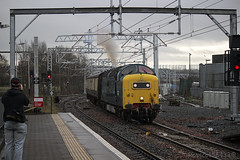 55022 'Royal Scots Grey' at Springburn working 5D15 to Shields TMD 05/04/14...