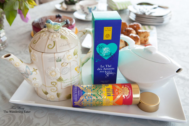 Luxury French teas (Palais des Thes & Mariage Freres) served for Mother's Day afternoon tea