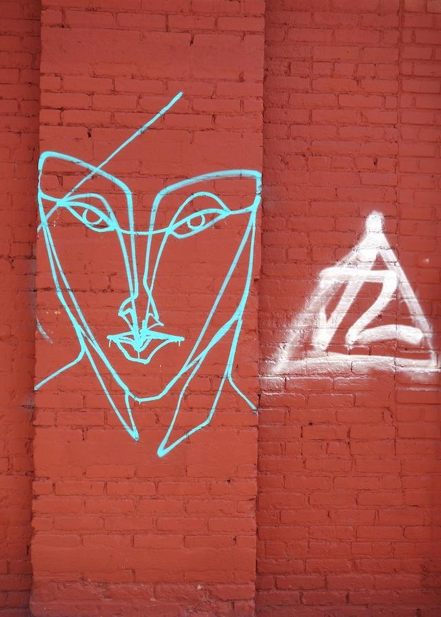 Brooklyn street art The Bushwick Collective face