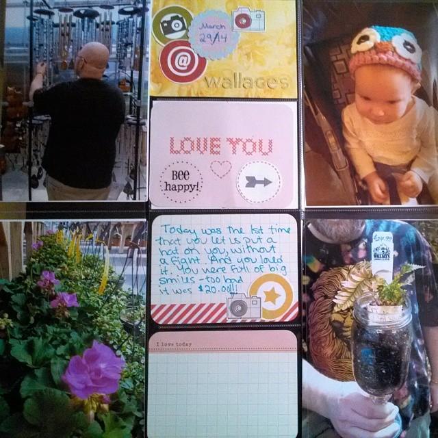 Project Life spread on celebrating spring through visiting a local garden center