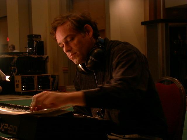 Brad Weage at the keyboard