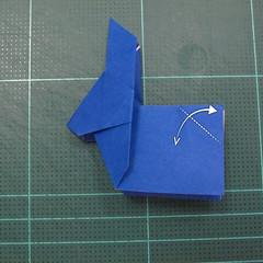 วิธีการพับกระดาษเป็นรูปกระต่าย แบบของเอ็ดวิน คอรี่ (Origami Rabbit)  022