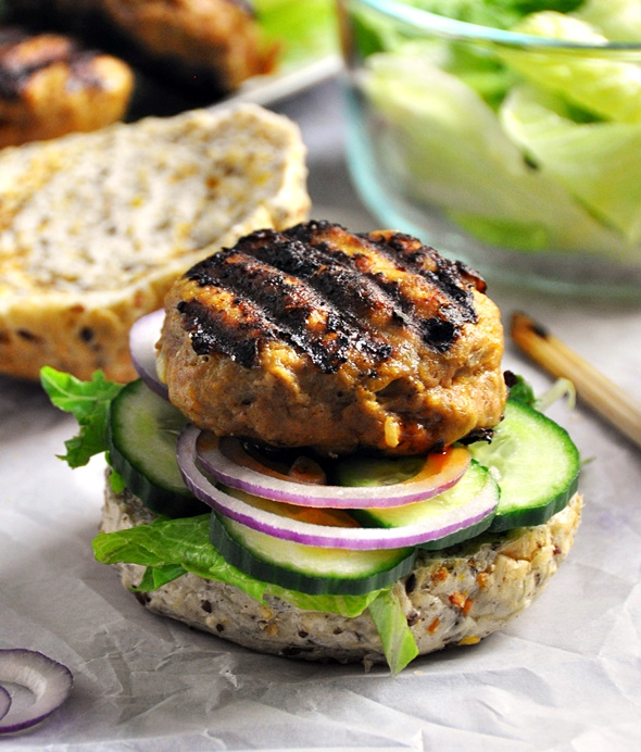 Satay Turkey Burgers