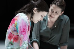 Phoebe Fox (Catherine) and Nicola Walker (Beatrice) in A View from the Bridge at the Young Vic. Photo by Jan Versweyveld.