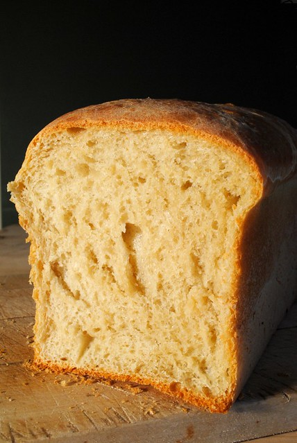Fresh loaf sliced