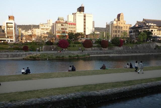 鴨川と先斗町