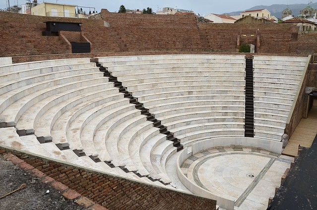 The restored Roman Odeon of Ancient Patrai, built before 160 AD, Patras, Greece