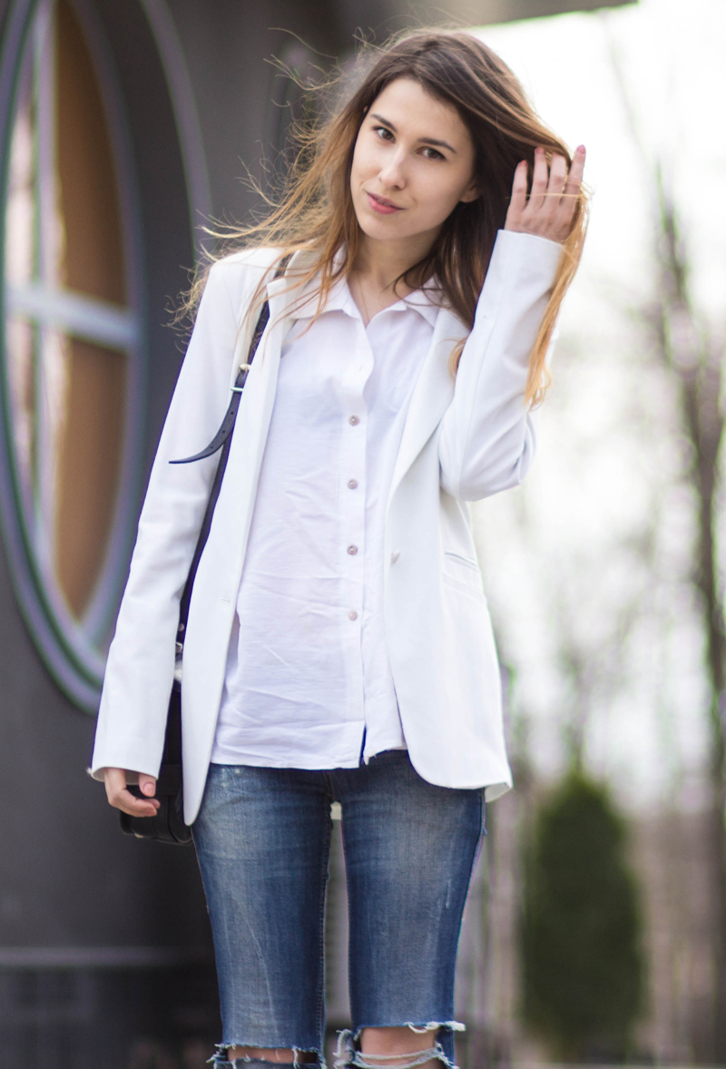 The White Ocean, Lena Juice, Personal Style Blogger, Ukraine, Fashion Blogger, white shirt
