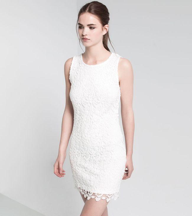 vestido blanco pull&bear