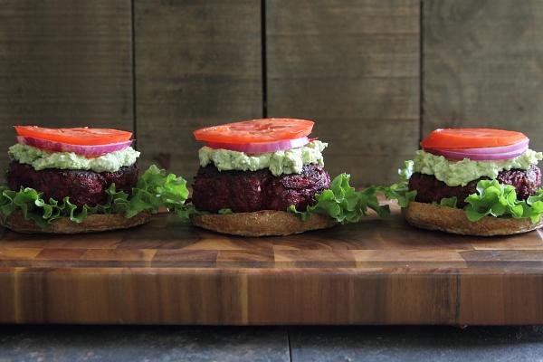 Beef Beet Burgers