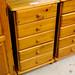 Pine 5 drawer slim unit