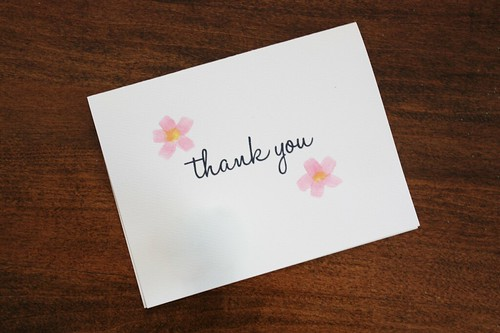 Watercolour Bridal Shower Thank You Cards Wedding Wednesdays