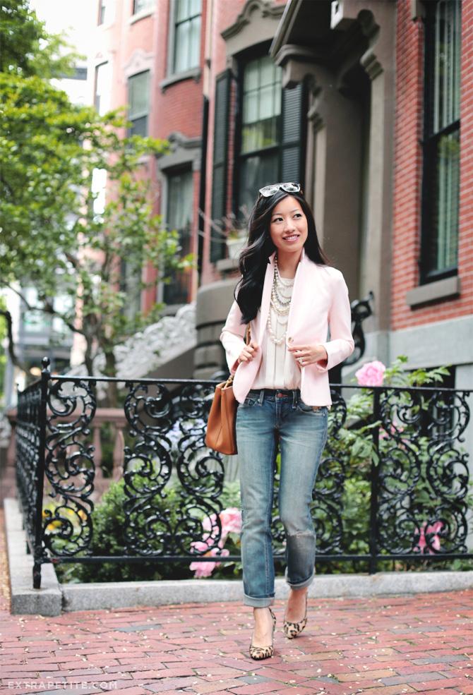 pink blazer boyfriend jeans2