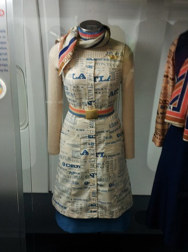 retro flight attendant dress