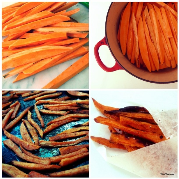 Chili Lime Baked Sweet Potato Fries Recipe Step by Step