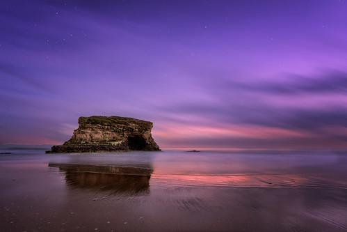 ocean california ca sunset sky santacruz sand surf naturalbridges