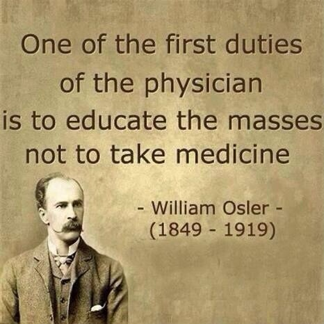 Physician duties Dont take medicine