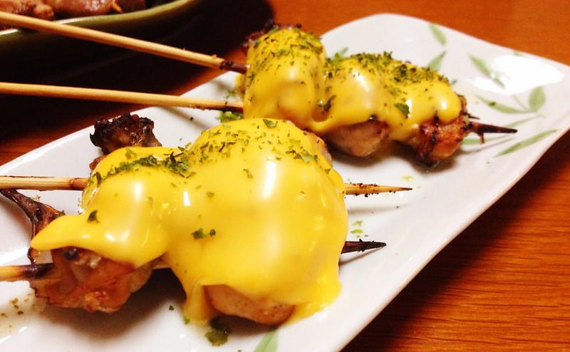 牡蠣のチーズ焼串