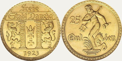FreieStadtDanzig25Gulden1923