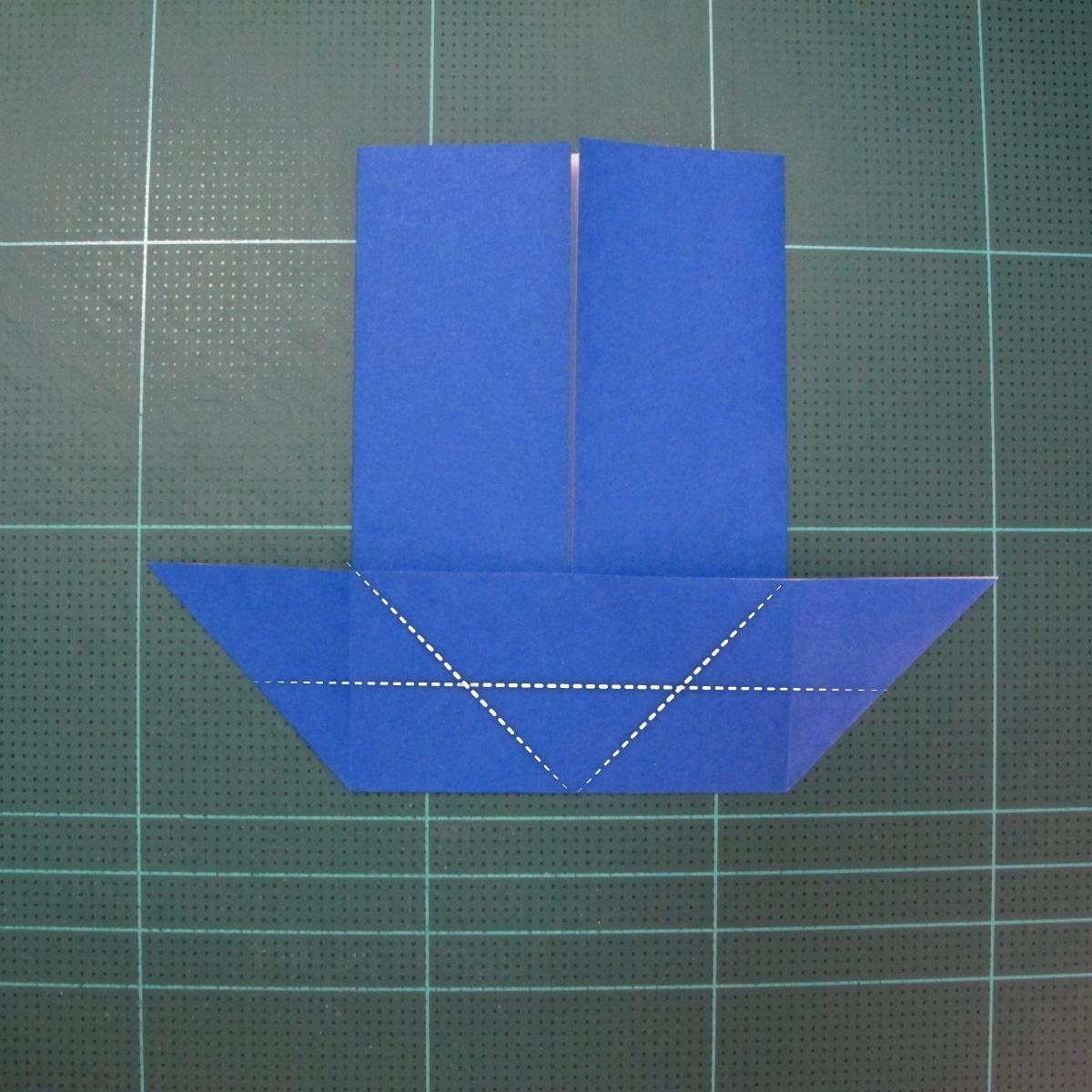 วิธีการพับกระดาษเป็นรูปกระต่าย แบบของเอ็ดวิน คอรี่ (Origami Rabbit)  007