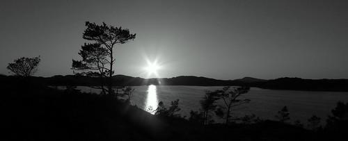 sunset sea blackandwhite bw sun sol nature norway natur norwegian fjord solnedgang ålfjorden