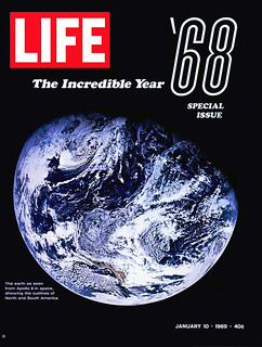 """ Thank you Apollo 8. You saved 1968 ""  The most impressive historic photo of Apollo 8 presented for the first time, LIFE Magazine, January 10, 1969"