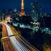 Shuto Expressway with Tokyo Tower by Sandro Bisaro
