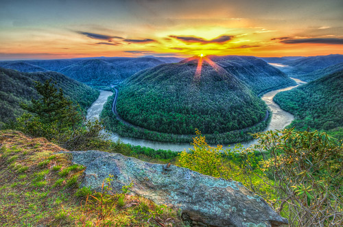 sunset mountain sunrise spring westvirginia grandview