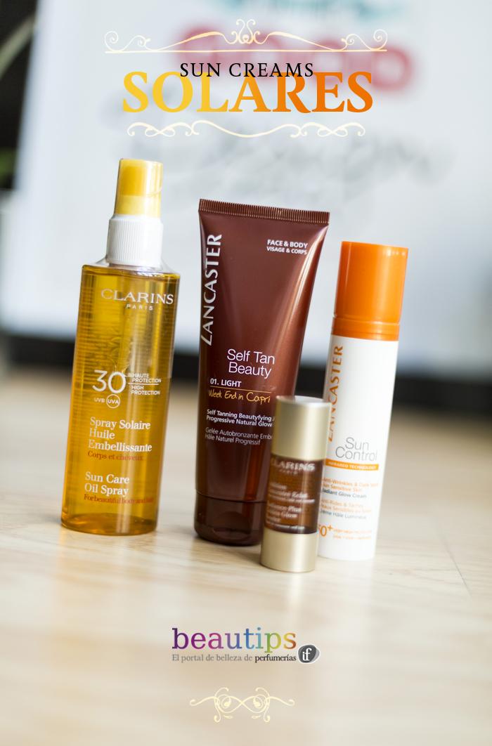 beautips barbara crespo sun creams solares beauty beautips.com fashion blogger blog de moda lancaster clarins