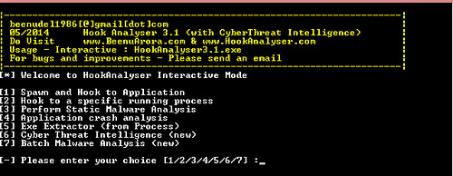 Hook Analyser 3.1 - Malware Analysis Tool