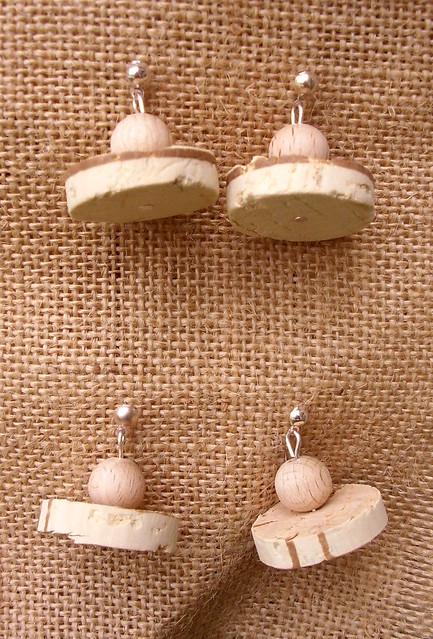 espositore per orecchini legno e rete conigli 5
