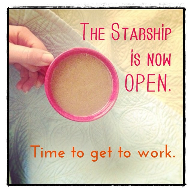 Huzzah! Just opened The Starship for the quarter! So excited to meet who beams aboard.  All the details in the link in my profile. But ask me anything!   #starshipbiz